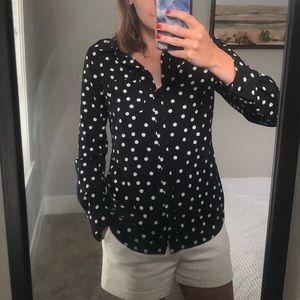 Button up polka dot top